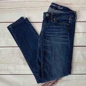 American Eagle • super skinny stretch jeans size 0